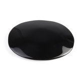 Large Black Obsidian Oval Palmstone Crystal Gemstone Memorial Scrying Stone Healing  US