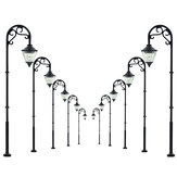 5Pcs Scale 1:87 Model Railway Lamppost Lamps LED Street Garden Train Light