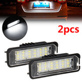 2PCS 18 LED Luzes de matrícula do carro para VW Golf MK4 MK5 MK6 Passat Lupo Polo 9N