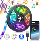 5V USB Power bluetooth Music Remote APP LED Strip Light 5050 RGB TV Baggrundsbelysning dekoration