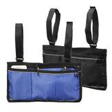 Wheelchair Side Bag Armrest Pouch Organizer Bag Phone Pocket Walker Scooter Tool Bag