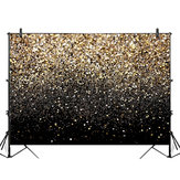 5x3FT 7x5FT 9x6FT Gold Bokeh Spots Photography Backdrop Background Studio Prop