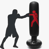 160cm Inflatable PVC Boxing Target Boxing Punching Bag Standing Home Gym Fitness Boxing Training Tool