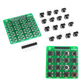 4X4 Matrix Keyboard Tact Touch Switch MCU Learning Board Development Board External Expansion Kit