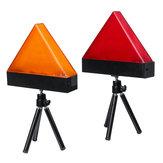 Recarregável universal LED Luzes estroboscópicas de aviso de triângulo de carro vermelho / amarelo com tripé de segurança de emergência Flash