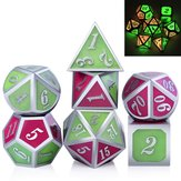7pcs Polyhedral Dice en alliage de Zinc Dice Set Heavy Duty Dices pour le jeu de rôle Dice Set