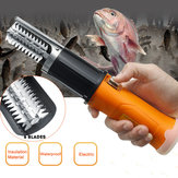 ZANLURE 12 V 2000 mAh Elektrische Fischhautentkalker Entkalker Schaber Messer-GD Angeln Werkzeug