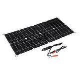 100W 18V Podwójny panel słoneczny Bateria słoneczna Moduł ogniw słonecznych Samochodowa ładowarka zewnętrzna Solar Power Panel 1szt