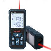 DTAPEDT50DT80DT100DT1202,0 tum Bakgrundsbelysning LCD-skärm Digital Laser Avståndsmätare Avståndsmätare Enkelt kontinuerligt område / Volym / Pythagoreanmätning 50m 80m 100m 120m
