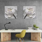 Miico Handgemalte Kombination Dekorative Gemälde Geprägte Lotus Wandkunst Für Heimtextilien