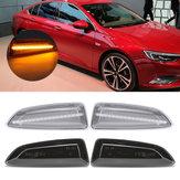 Luzes indicadoras de lado LED indicador de mudança de marcha Par amarelo para Opel Vauxhall