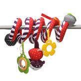 Cama infantil que pendura carrinho de bebê chocalho berço rolo de pelúcia espiral decorações de brinquedos