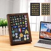 Medalha de Pin Display de madeira Caso Frame de armazenamento Caixa para decorações de mesa de tapeçaria
