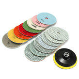 16pcs 4 Inch 50 to 10000 Grit Diamond Polishing Pad for Granite Stone Concrete Marble