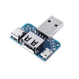 3pcs USB Adapter Board macho a hembra Micro Type-C 4P 2.54mm USB4 convertidor de módulo