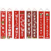 Frohe Weihnacht-Portal-Fahnen-Weihnachtsdekorationen im Freien für hängende hängende Hauptverzierung