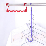 Five Hole Magic Multifunctional Windproof Cloth Hanger Windproof Airer Five Hole Magic Hanger