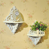 White Filigree Style Wall Shelf Shabby Chic Simple Candle Home Decorations Holder