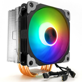 Coolmoon 1PCS 12cm Adjustable RGB CPU Heat Sink with 5 Heat Pipe Computer Case PC Cooling Fan