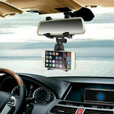 Universal Rear View Mirror Car Mount Phone Holder Bracket Cradle For 3.5-5.0'' Smart Phone
