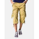 Lässige Cargo-Shorts aus Baumwolle mit mehreren Taschen