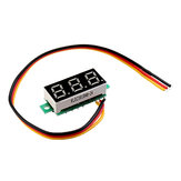 3pcs 0.28 Inch Three-wire 0-100V Digital Red Display DC Voltmeter Adjustable Voltage Meter