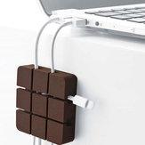 Sudoku Motif Multi-fonctionnel Silicone Fil Clip Holder Écouteurs USB Câble Cordon Winder Wrap Bureau Câble Organisateur Fil Gestion Titulaire