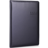 Deli 7950 Notebook 25k /82 Pages Meeting Notebook PU Wear Resistant 360 Degree Edging Design for Office