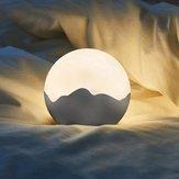 LED Moon Night Light USB wiederaufladbare Tap Control Dimmtisch Nachttischlampe DC5V