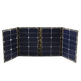 80W 18V Foldable Sunpower Solar Panel Charger Solar Power Bank USB Camouflage Backpack for Camping Hiking