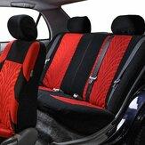 Premium Car Seat Cover Knitted Fabric Mesh Composite 9 Piece Set