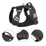Daily Walking Outdoor Activities S/M/L/XL Pet Dog Harness Front Clip Reflective Explosion-proof Rushing Oxford Padded Soft Vest Chest Strap Back