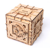 木の機械伝達の宝箱の宝石類の収納箱の硬貨の困惑のおもちゃ