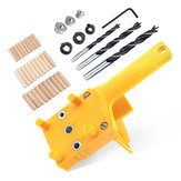 1/8/41PCS Handheld Woodworking Dowelling Jig Set Drill Guide 6/8/10MM Sleeve Wood Doweling Tool