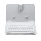 Portable PU Leather Wireless bluetooth Keyboard Case Holder For Smartphone Tablet