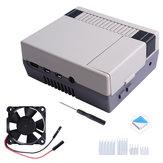 Nes4Pi ABS Caso para Raspberry Pi 4B com ventilador de refrigeração 3510