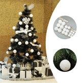 6/12Pcs Christmas Snowball Balls 40-100mm Party Ornaments Bauble Xmas Tree Decoration