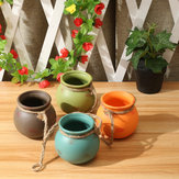 4 Pcs Set Hanging Pots Cotta Flower Pot Terra Colorful Herb Planter Wall Home Garden Decor