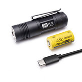 ON THE ROAD 311 720lm 11Modes USB Rechargeable EDC Tactical Flashlight with 16340 Battery