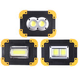 350W COB Flood Light LED Camping Light USB Rechargeable IP42 Waterproof 3 Mode Emergency Work Light