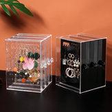 Jewelry Display Stand Dustproof Earrings Holder Jewelry Display Rack Storage Organizer Box