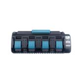 18V DC18SF 3A Chargeur Li-Ion 4 ports Batterie pour Makita 14.4V-18V BL1830 BL1840 BL1850 BL1860 BL1430 BL1440 BL1450 BL1460