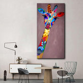 Hand Painted Oil Paintings Animal Giraffe Modern Stretched Canvas Wall Art For Home Decoration Paintings