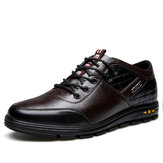 Men Pure Color Comfy Lace Up Increased Shoes