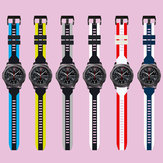 Bakeey Silicone Watch Band Dual Color Watch Strap for Huawei GT2/GT Amazfit GTR