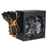 600W Alimentation PC 120cm LED Ventilateur 24 broches PCI SATA 12V Alimentation ordinateur