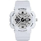 SYNOKE9015Movimentodeexibiçãoduplo Relógio luminoso para homem