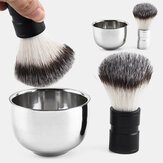 Stainless Steel Shaving Bowl Barber Beard Razor Cup For Shave Brush Male Face Cleaning Soap Mug Tool Set Silver NEW