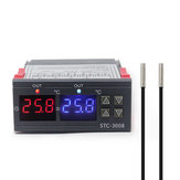 Dual Digital Incubator Thermostat Temperature Controller Two Relay Output Thermoregulator 10A Heating Cooling STC-3008 12V