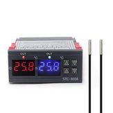 Çift Dijital Inkübatör Termostat Sıcaklık Kontrol Iki Röle Çıkışı Termoregülatöre 10A Isıtma Soğutma STC-3008 12 V